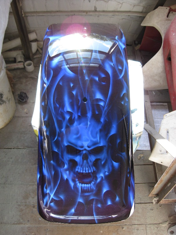 Custom Motorcycle Paint Jobs Skulls And Flames | 2017 - 2018 Best Cars Reviews